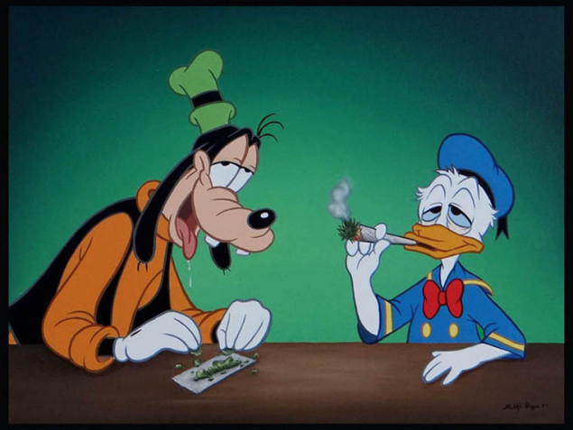 You Cartoon characters smoking weed agree
