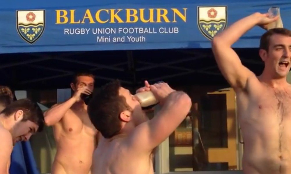 Football nude male rugby players